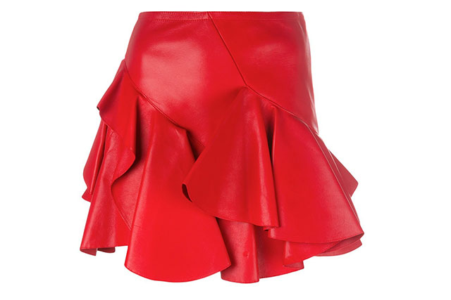 Alexander McQueen leather skirt