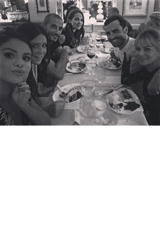 Selena Gomes with Nicolas Ghesquière, Michelle Williams and friends
