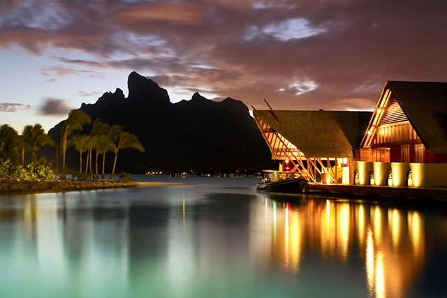 Sunset Restaurant and Bar, Bora Bora, Tahiti. This Polynesian pretty at the Four Seasons is dining heaven on earth. It's a big call, and we're standing by it.