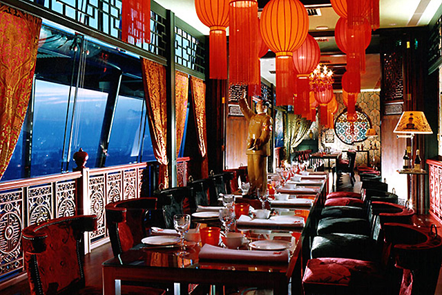The China Club, Hong Kong. This high-flyer located on the top floors of the Bank of China in downtown Hong Kong plays a strict members-only card - find a friend who has an all access pass. Authentic eats and sizzling expat viewing.