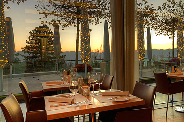 Garden Restaurant, Zurich, Switzerland. Located in one of the most glam hotels in the world (The Dolder Grand) the hills are alive with the sound of silverware in this upscale dame. Delicious seasonal fare and 007-esque design elevate it even higher.