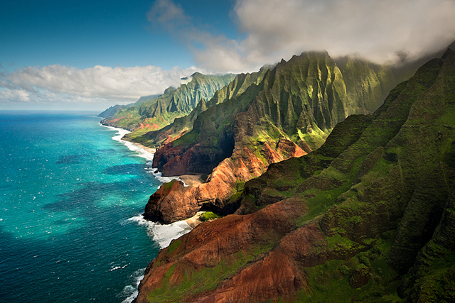 Kauai, Hawaii. Think: majestic ocean-facing cliffs, rainforest and a distinct lack of commercial developments. No wonder Orlando Bloom and Katy Perry were just spotted there.