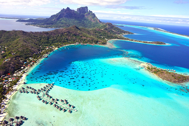 Bora Bora. Gigi Hadid and Joe Jonas (when they were a thing) last holidayed here in August – and you can see why.