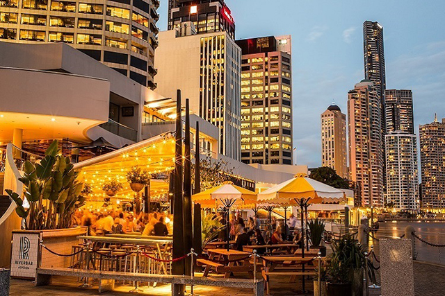Riverbar & Kitchen, Brisbane. This bright Brisbane riverside beauty is slicker than your average den of romantic inequity.