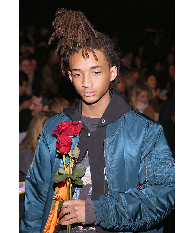 8. Jaden Smith. Age: 17. Claim to fame: The second son of Will Smith and Jada Pinkett Smith has dabbled in acting, music, modelling (for Louis Vuitton's S/S '16 womenswear campaign, no less) and has his own fashion line, MSFTSrep.