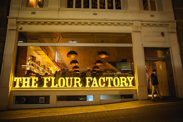 The Flour Factory, Perth. Sexy on the outside and in, this converted flour mill is three floors of date night good times from the New York deli to the Spanish Bodega cocktail bar.