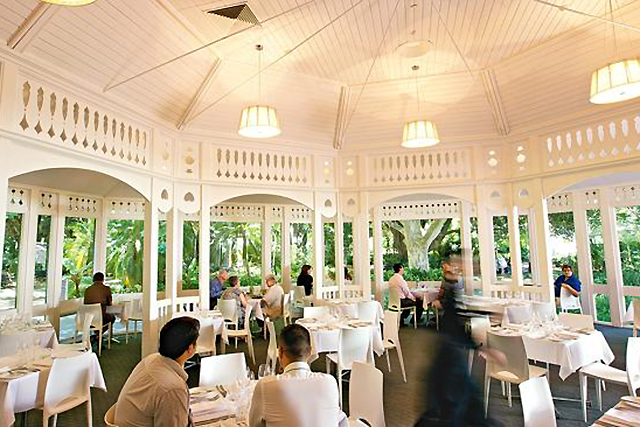 Botanic Gardens Restaurant, Adelaide. When we think date night we typically think dark lights and sexy beats, but there's something about a green-lit garden setting that also gets us in the mood.