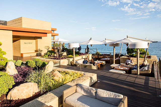 Nobu, Malibu, USA. You can't leave Nobu off the best dining list and it's prima donna situation in Malibu is the ideal fusion of eastern cuisine meets California postcard perfection.