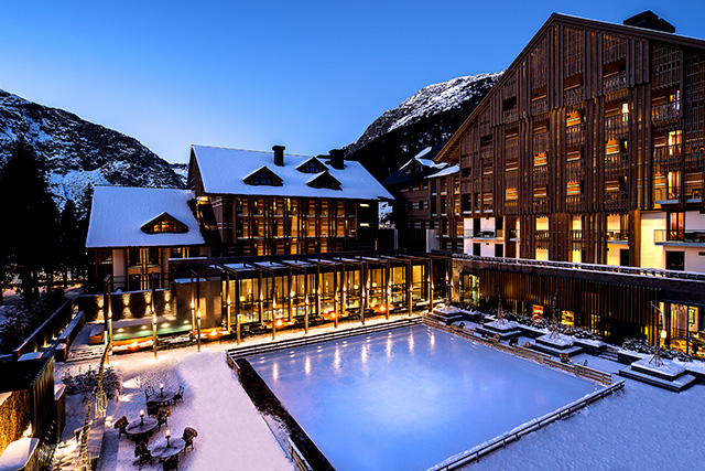 The Chedi Andermatt, Switzerland: Just two hours from Zurich and set high in the Swiss Alps, The Chedi offers incredible skiing, hydrothermal baths and a sleek, modern interior.