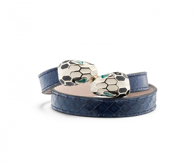 ABU Bracelet in Shiny Ayers Denim Sapphire/Light Gold, $570