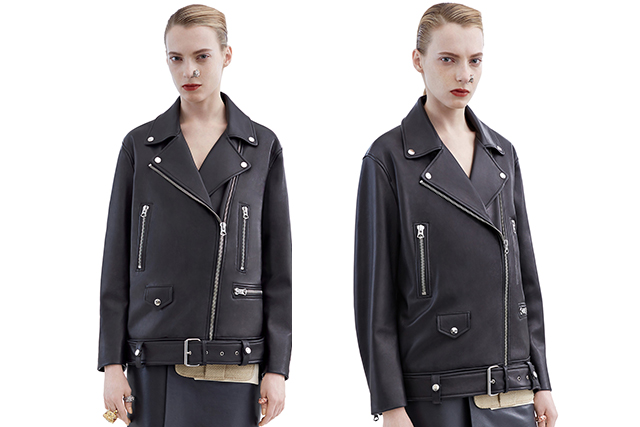Acne oversized black leather jacket: A leather jacket is a must, just like a pair of well-tailored pants and a little black dress. This leather jacket will only get cooler with age.