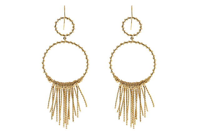 Gold drop earrings: Love me a new set of statement earrings! Just in time for party season, these gleaming numbers will get me out of the stud rut I've found myself in this year (at least they will, if Santa cares to splurge?).