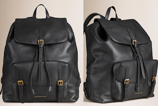 Burberry Small Grainy Leather Backpack: A good backpack is like a good bag – it will serve you for ever. I love this one by Burberry – it's in their men's section but I think it works both ways.