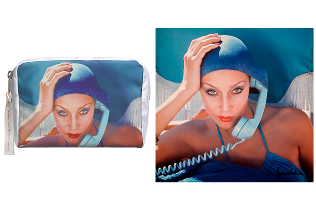 On Call Makeup Bag, $59, featuring Jerry Hall for British Vogue, May 1975