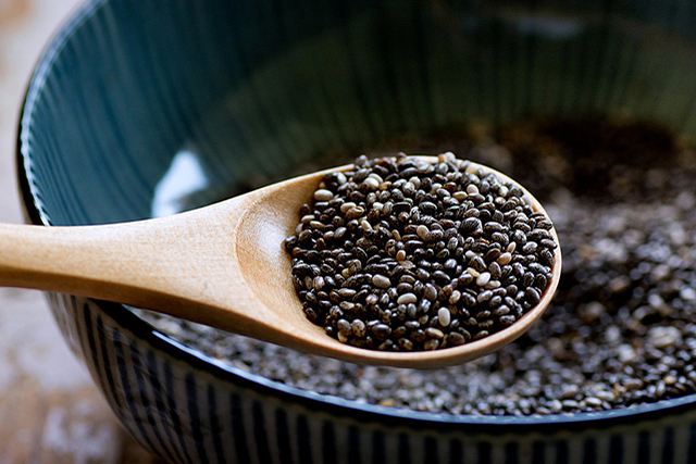 Chia seeds. They contain eight times more Omega-3 than salmon and are super rich in calcium – two things which are essential for great skin.