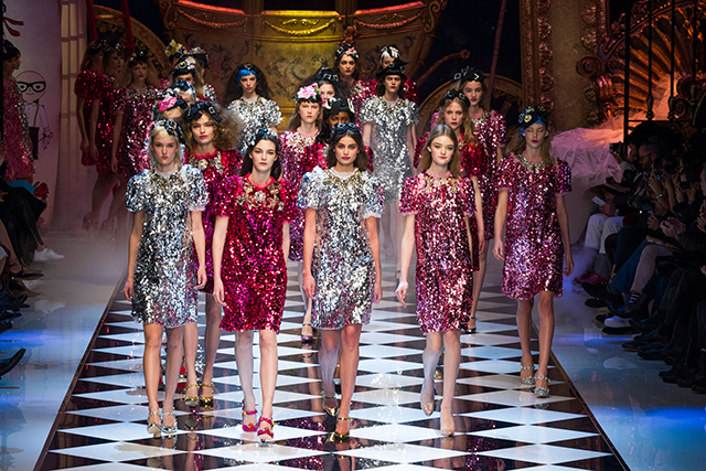 The finale of the Dolce & Gabbana show
