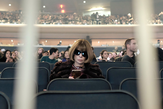Anna Wintour at the Yeezy Season 3 show
