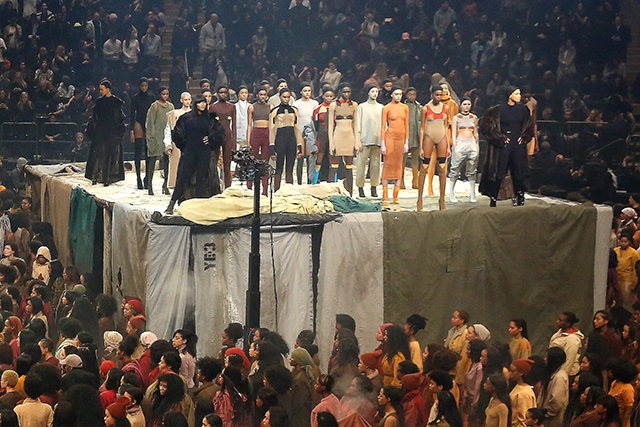 The Yeezy Season 3 show at Madison Square Garden