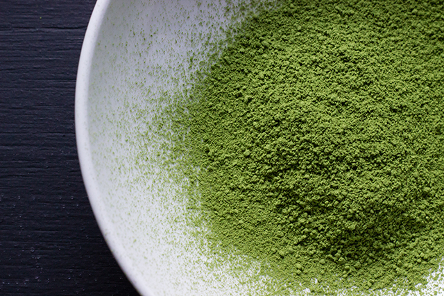 Matcha powder. This green tea powder has been used in Japanese tea ceremonies for centuries. Ten times stronger than normal green tea, it can also be added to green smoothies, juices and face masques.