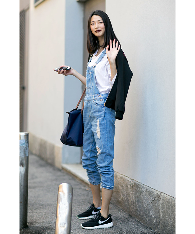 Dungarees: always wear with trainers for an effortlessly cool look.
