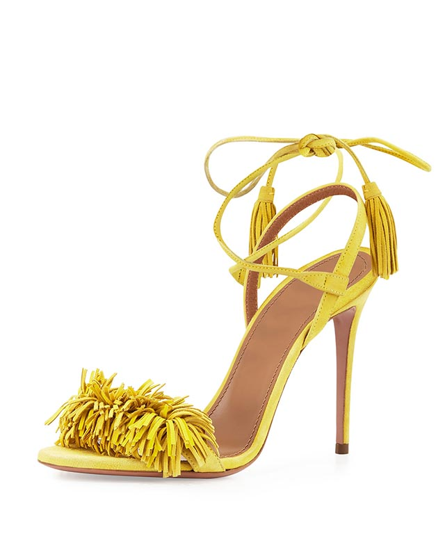Aquazzura Wild Thing fringed sandals