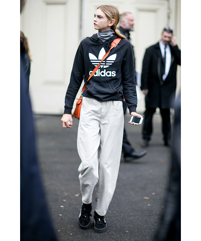 Sports apparel: logo jumpers (preferably Adidas) are another must.