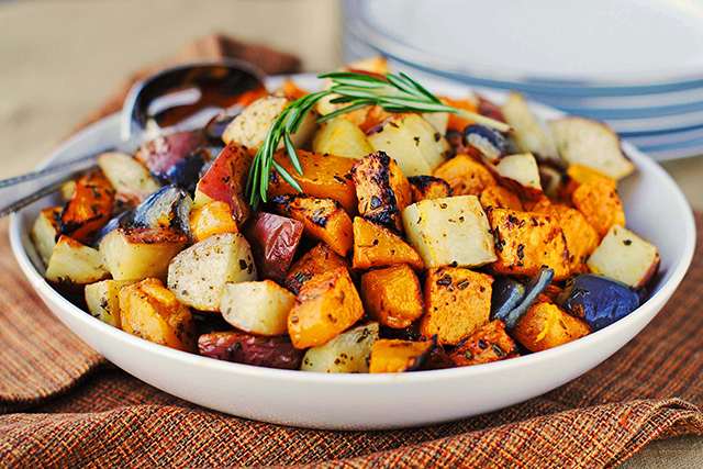 Pasta side dishes > Roasted vegetables