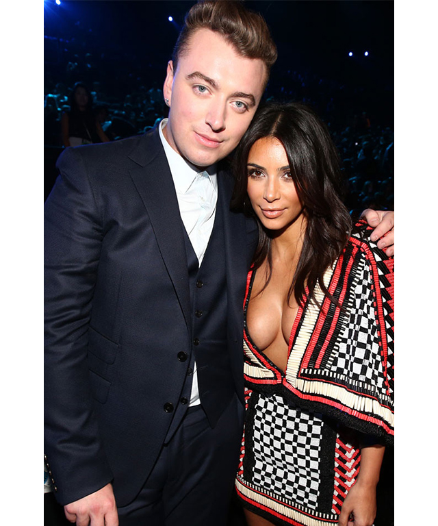 Sam Smith and Kim Kardashian