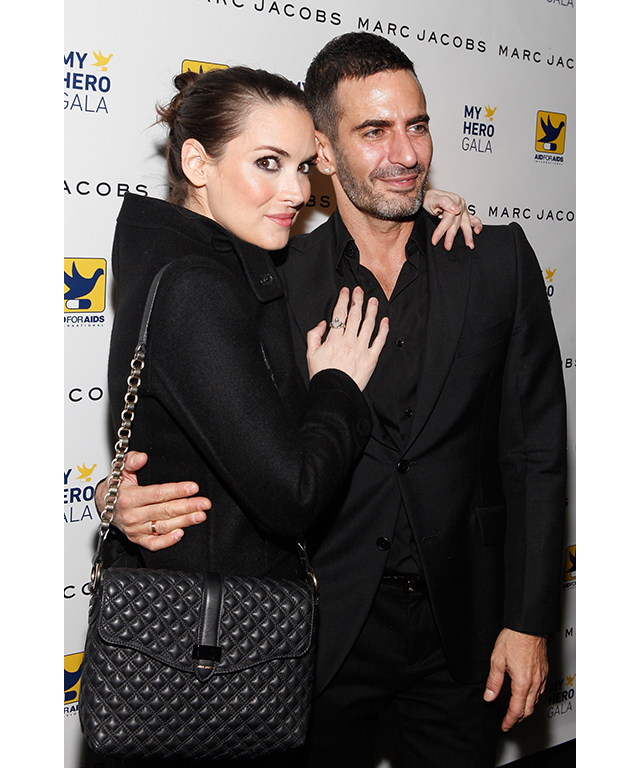 with Marc Jacobs attend the 2011 AID For AIDS International's My Hero gala
