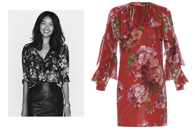 Yeong Sassall, commercial editor: Gucci geranium print silk dress: From the man who made me fall in love with ruffles again - this is one A/W '15 dress you can actually wear in summer.
