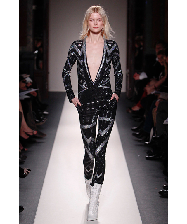 Balmain borrowed Bowie's lightning bolt for their '70s-inspired 2011 collection of glitter jumpsuits.