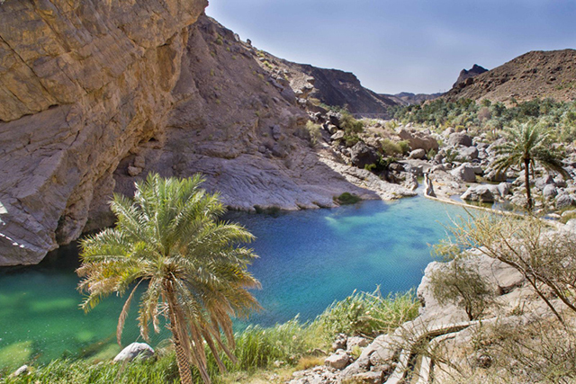 Coastal route, Dubai to Muscat, Oman: Take the road less travelled with a trip through Sharjah National Park, the Hajjar Mountains and the Gulf of Oman.