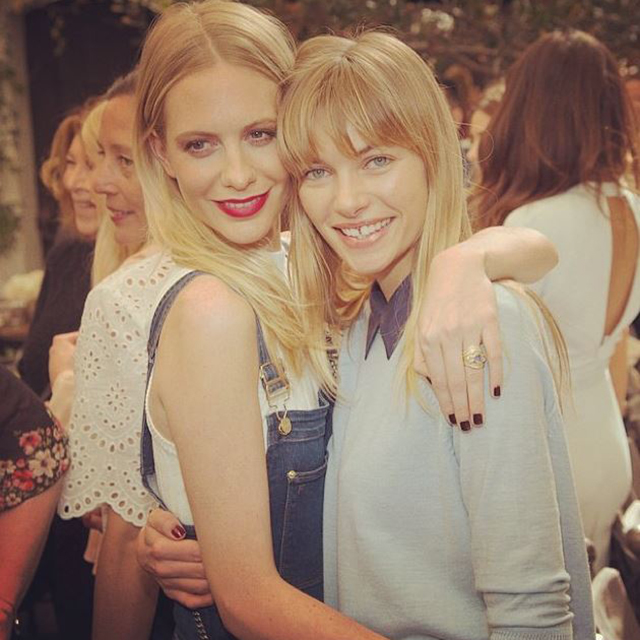 Poppy Delevingne and Jessica Hart