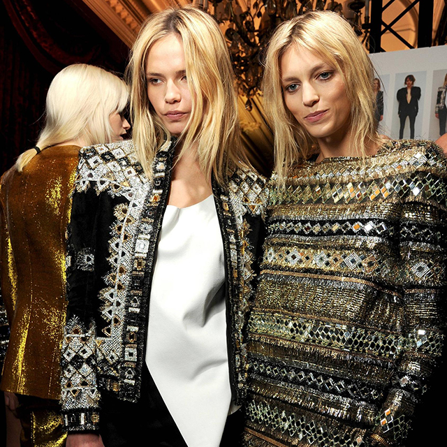 Natasha Poly and Anja Rubik