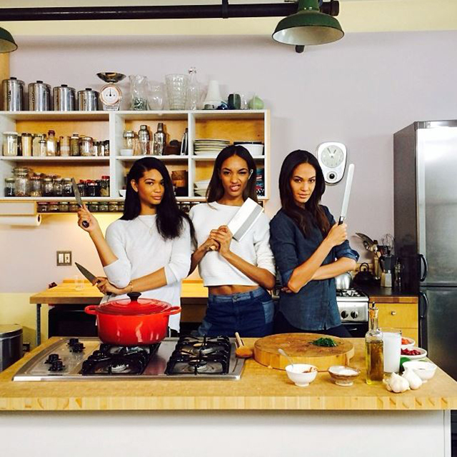 Chanel Iman, Jourdan Dunn and Joan Smalls