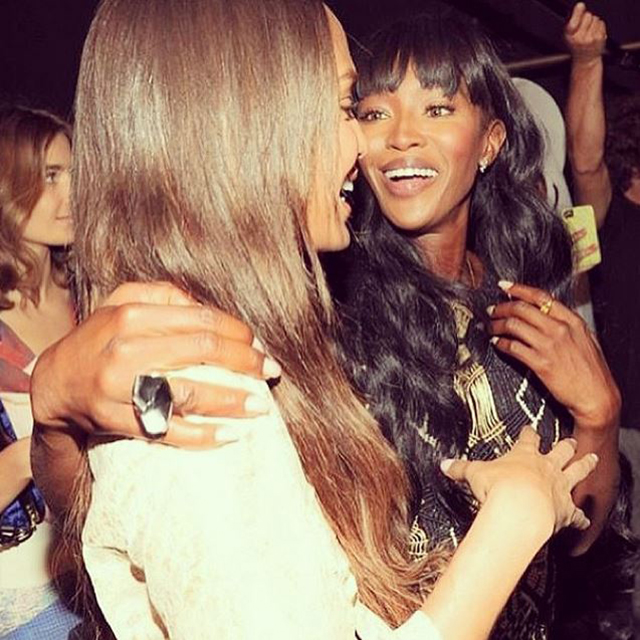 Joan Smalls and Naomi Campbell