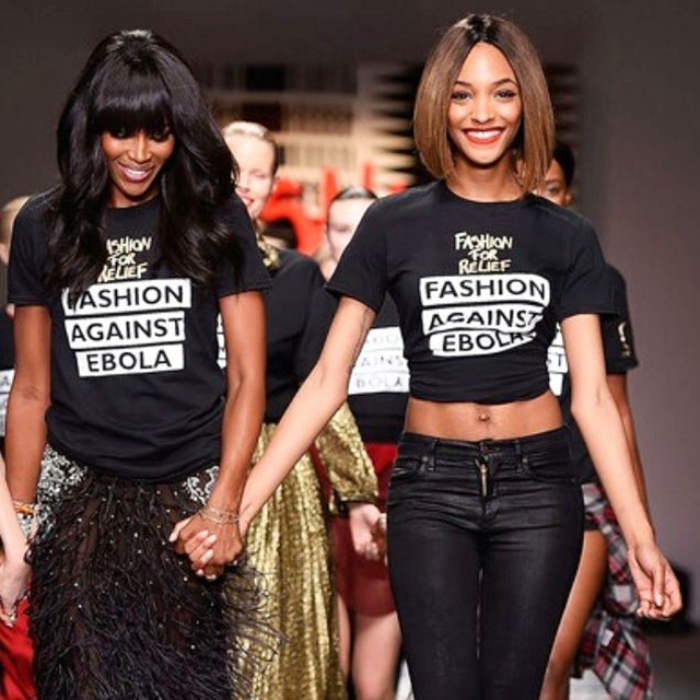 Naomi Campbell and Jourdan Dunn