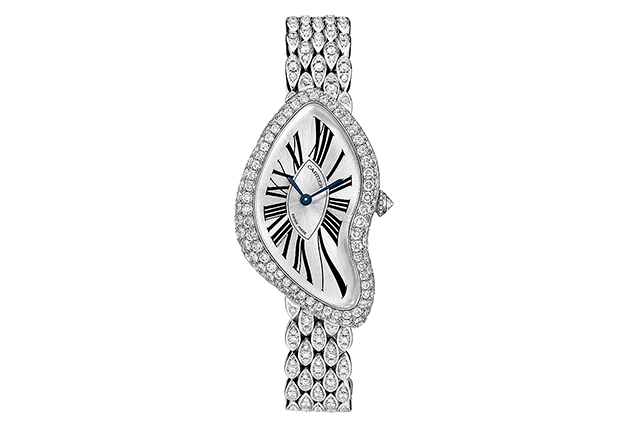 Cartier Crash watch in 18-carat white gold and diamonds, $185,000