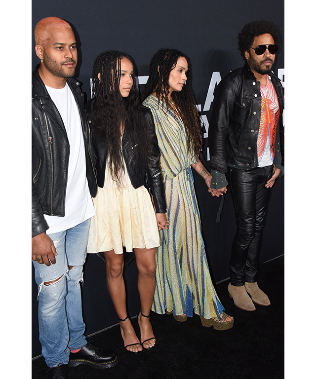 Twin Shadow, Zoë Kravitz, Lisa Bonet and Lenny Kravitz