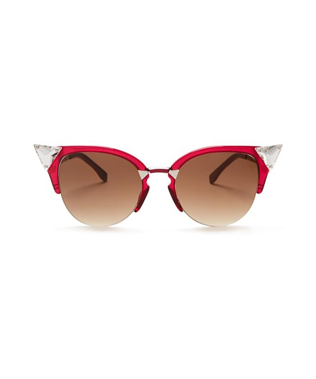 Fendi Crystal Embellished Cat Eye sunglasses