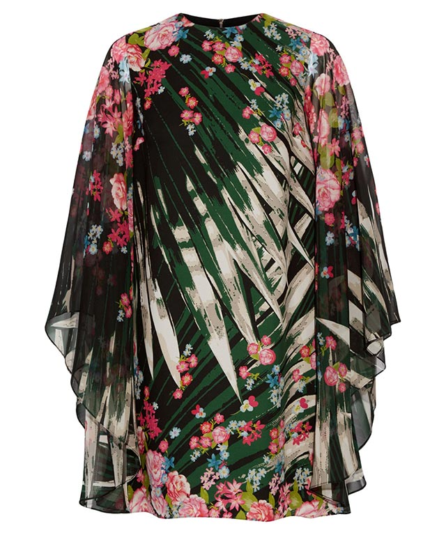 Elie Saab printed silk-georgette mini dress