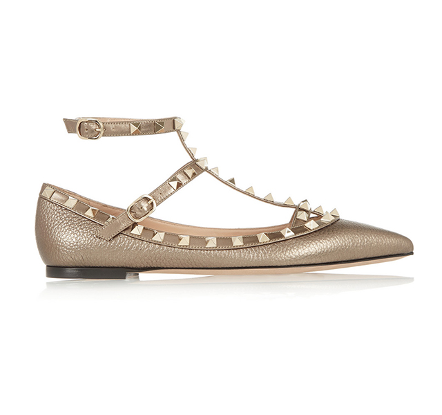 Shoes: Valentino rockstud flats