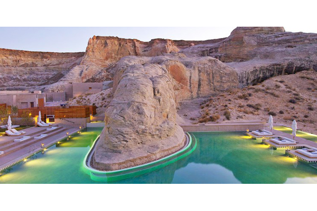 Amangiri Spa, Utah, USA: The Grand Canyon is one of the seven natural wonders of the world, so it seems only natural that a spa should be set here. The Aman Group took up the challenge and created a wellness escape that does justice to the landscape.