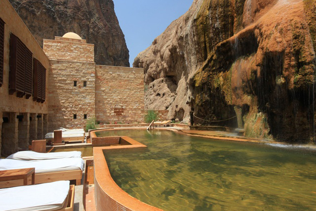 Evason Six Senses Spa Ma'in Hot Springs, Jordan: The Six Senses Spa features the usual treatment rooms but ups the cool factor with their very own steam cave. Proximity to the Dead Sea means treatments are rich in minerals and rejuvenation.
