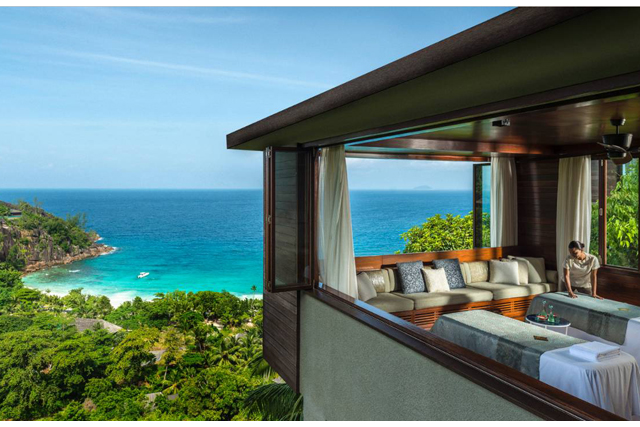 Four Seasons Spa, Mahe Seychelles: Overlooking idyllic Petite Anse Bay, this spa does island time and a half in indulgence.  All ages are catered for in luxe digs with a treatment menu covering daytime spa dates to late night facial cravings.