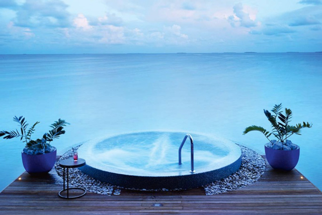 Velaa Private Island Spa, Maldives: Anything with a Maldives tag on it is luxe, but the Spa on Velaa Private Island is over water and over-indulgent. So many shades of relaxing right.