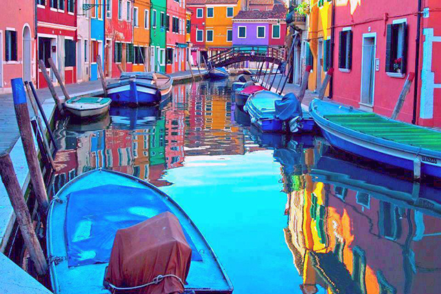 Burano, Venice, Italy: Populated with eye-popping abodes and some of the best lace-makers in the biz, this locale beats with a true arty heart.