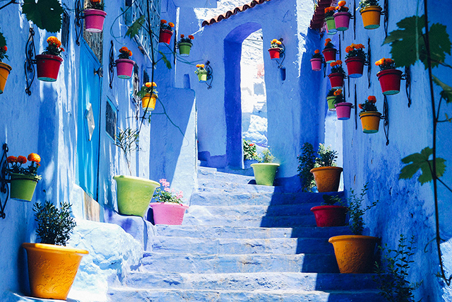 Chefchaouen, Morocco: This denim-washed mountain village in Morocco rocks the Kasbah in all the right ways.