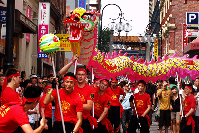 Chinatown Melbourne: Lion dancers and roaming performers will be on the streets of Melbourne's Chinatown from February 7-21. Don't miss the dragon street parade on Feb 14.