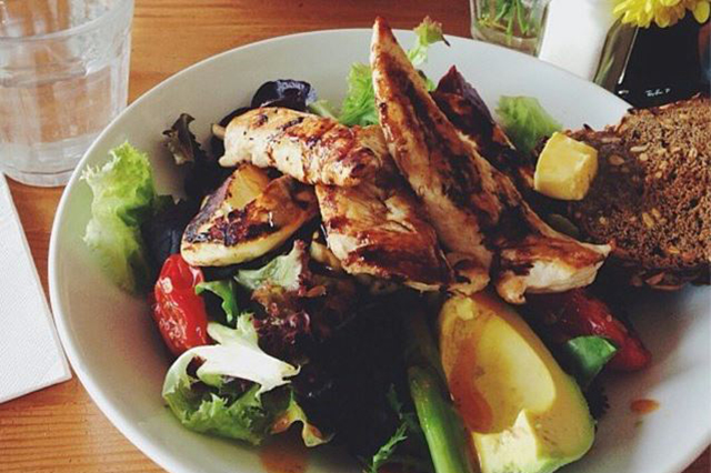 Jo & Willys Depot, North Bondi, Sydney: A favourite with locals, this café offers seasonal salads with the full crunch factor. The must-order menu item is the chicken and haloumi salad.